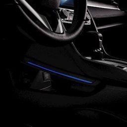 Iluminação do console Civic