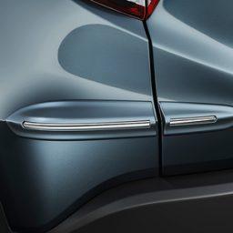 Protetor para-choque lateral traseiro com tipo com friso em cromo HR-V